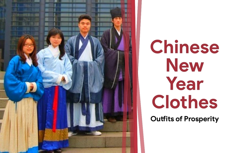 a group of people wearing traditional chinese new year clothes
