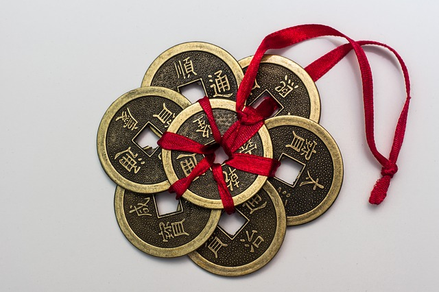 before the tradition of the red pocket, coins were tied together as gifts of prosperity to children